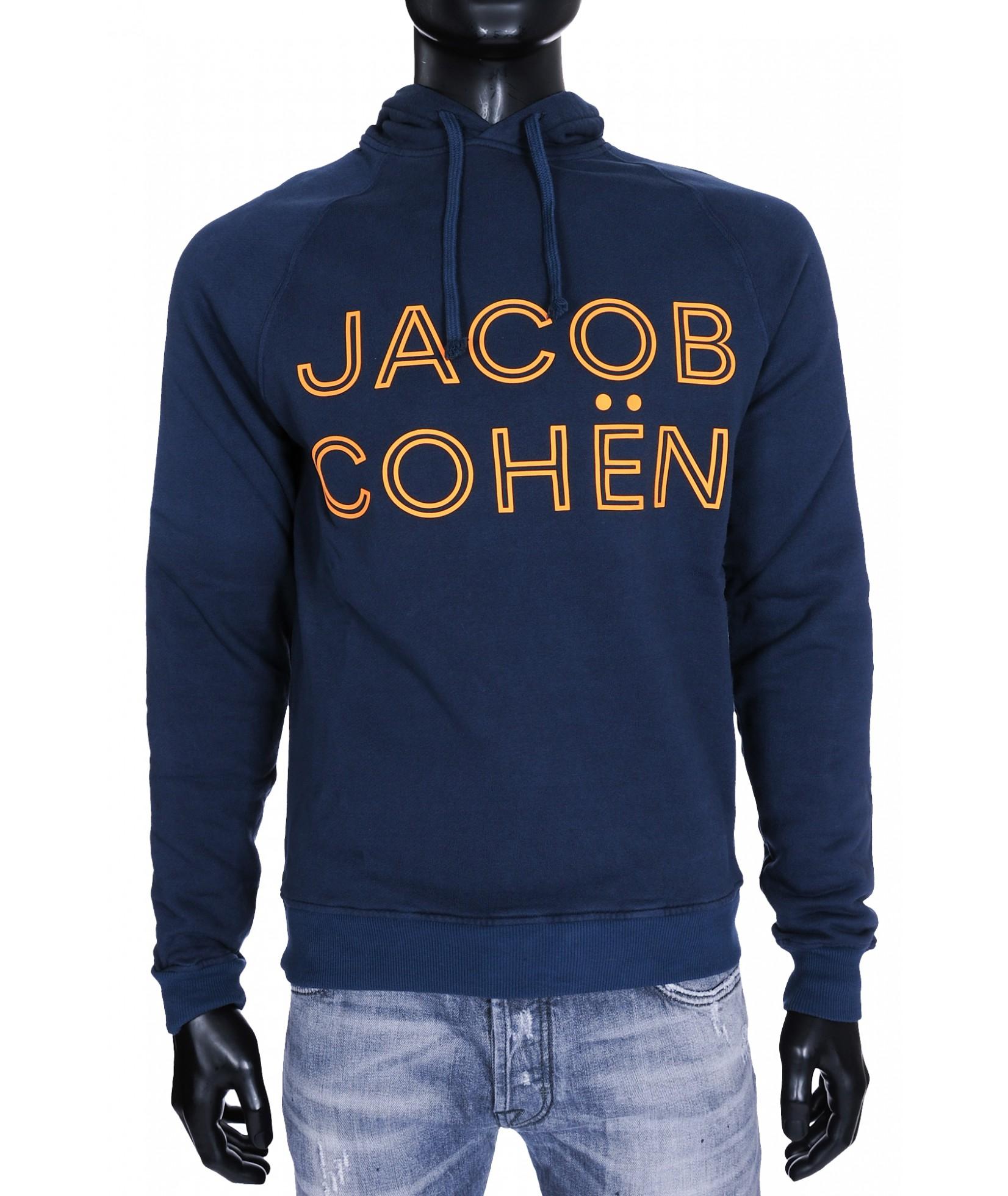 Jacob Cohen Hoodie Donkerblauw (31433)