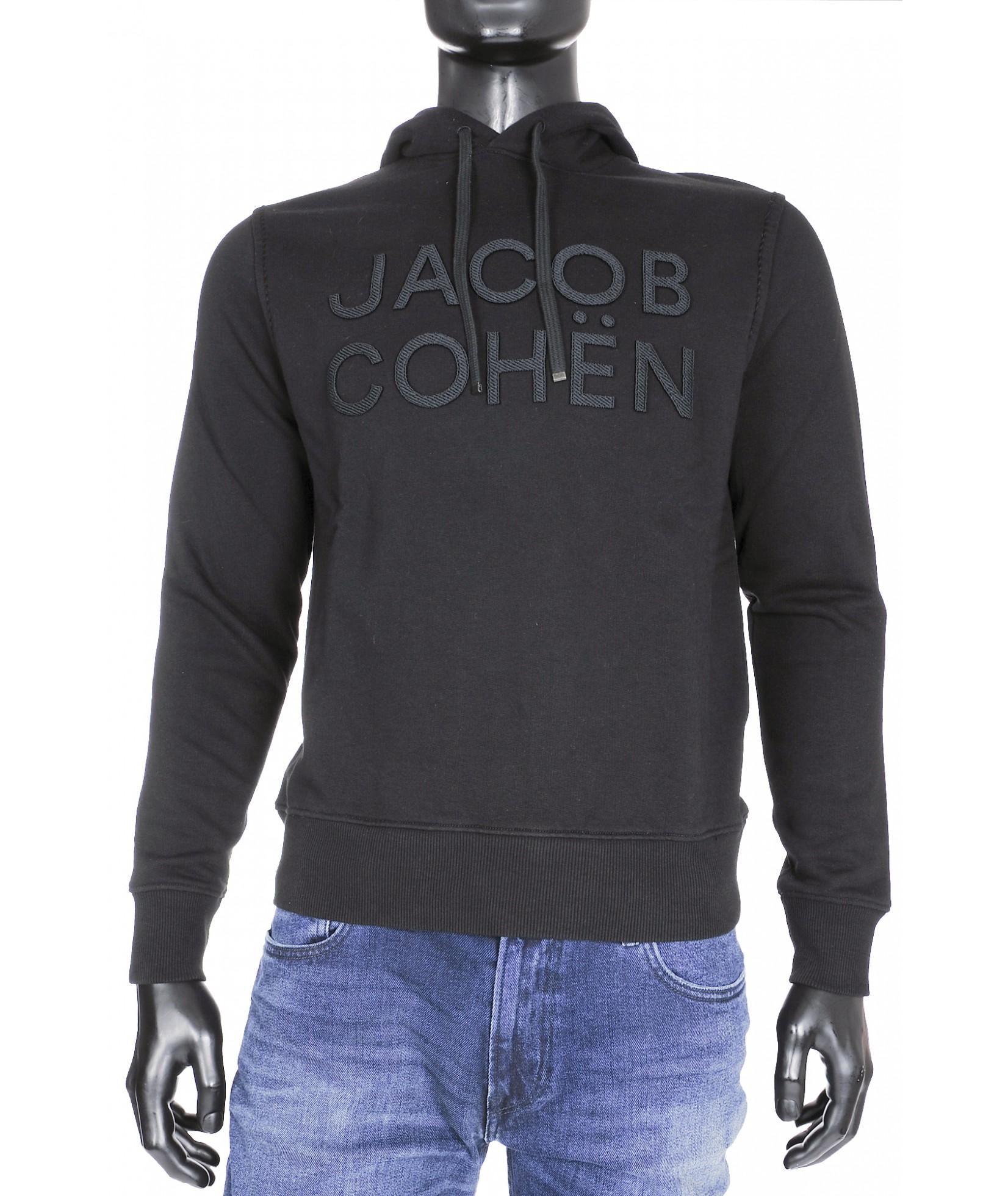 Jacob Cohen Hoodie Noir (33202)