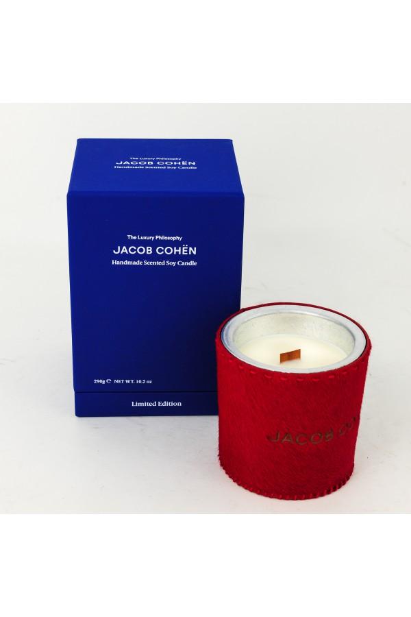 Bougie parfumée au soja Jacob Cohen rouge