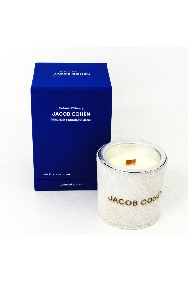 Bougie parfumée au soja Jacob Cohen blanc