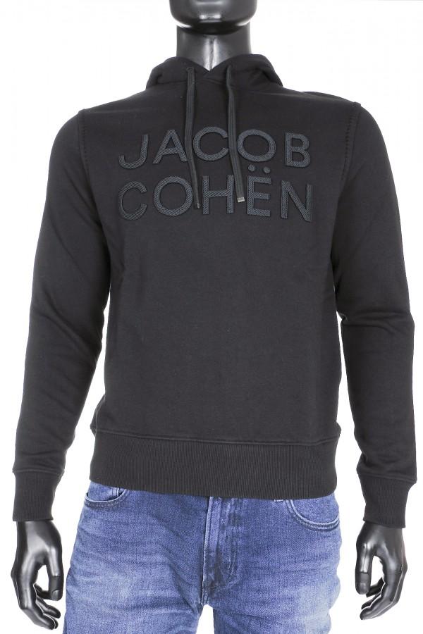 Jacob Cohen Hoodie Zwart (33202)