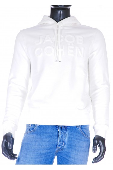 Jacob Cohen Hoodie off white (33201)