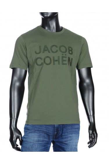 Jacob Cohen t-shirt legergroen (33976)